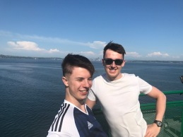 Boys on ferry