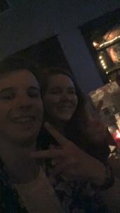 Sean and Michaela in a bar