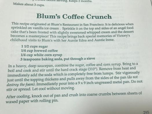 Blum's Coffee Crunch Cake Recipe