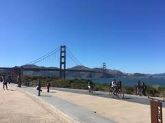 Golden Gate Bridge from bike path