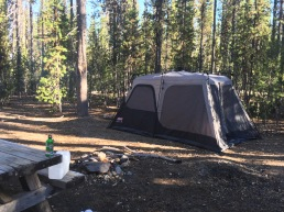 Our campsite at Crater Lake