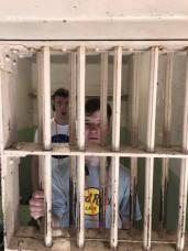 Sean and James behind bars