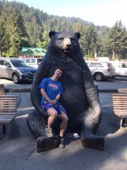 Sean and the bear