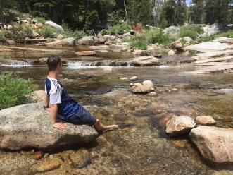 Sean in the river