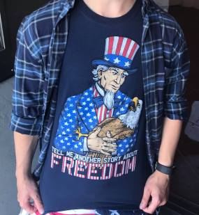 Sean's patriotic shirt