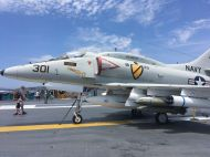 Plane on the USS Midway