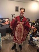 Sean in the poncho